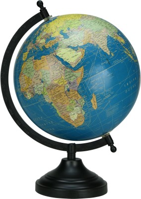 Globeskart Designer Royal Blue Desk and Table Top Political World Globe(Medium Royal Blue)