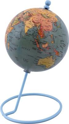 Globeskart Designer Antique Green Desk and Table Top Political World Globe