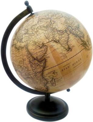Vira Grey Matte Finish With Metal base Desk & Table Top Political World Globe