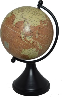Spera Powder Black desk and table top political World Globe