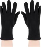 Bonjour Fleece & Lycra Gloves Solid Wint...