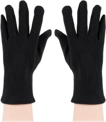Bonjour Fleece & Lycra Gloves Solid Winter Men's Gloves