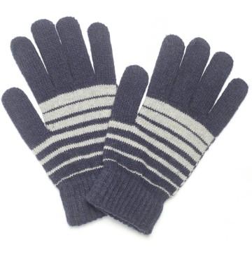 CottonFlake Striped Winter Men's Gloves