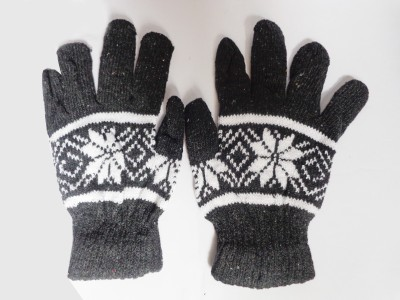 Vidya Ventures Floral Print Winter Men's Gloves