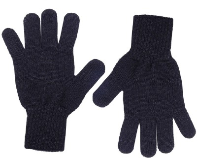 Gajraj Sparkling Black Solid Winter Women's Gloves