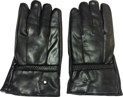 Graceway Leather Solid Winter Men's Gloves
