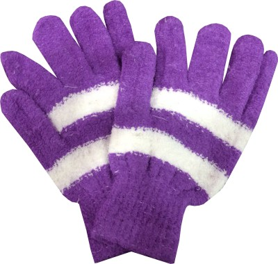 Gayatri Creations Striped Winter Women,s Gloves