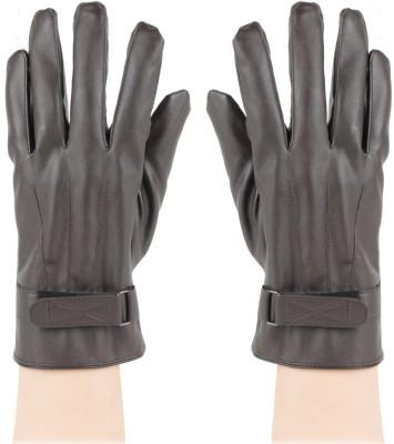 Bonjour PU Leather Gloves Solid Winter Men's Gloves