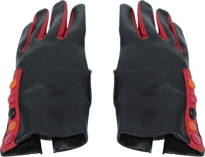 Faith Genuine Leather For Fashion And Winter Solid Protective Girl's Gloves