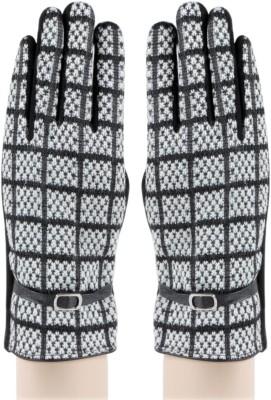 Bonjour Fleece Gloves Self Design Winter Women's Gloves