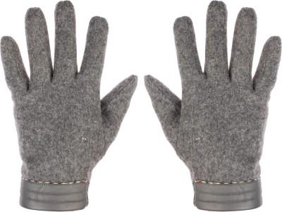 Bonjour Grey Solid Winter Men's Gloves