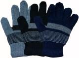 Softoe Striped Winter Men's Gloves