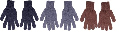 Gajraj Woolen Solid Winter Men's Gloves