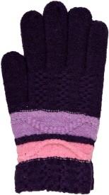 Vinenzia Striped Winter Women's Gloves