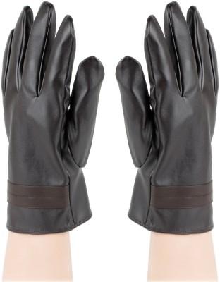 Bonjour Plain Solid Winter Men's Gloves