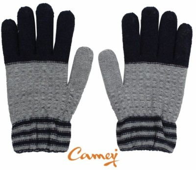 Camey Solid Winter Men's Gloves