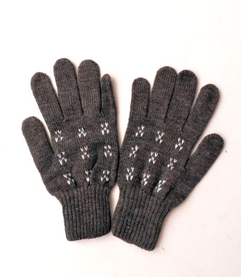 Lord&Lady Embroidered Winter Men's Gloves
