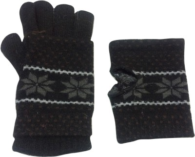 Graceway Two In One Floral Print Winter Women's Gloves