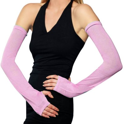 Pink Flamingo UV Fingerless Solid Protective Women's Gloves