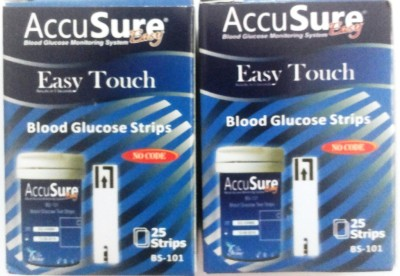 AccuSure 50 Glucometer Strips
