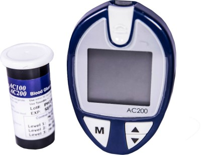 JSB Ac200 with 50 Strips 30 Lancets Glucometer
