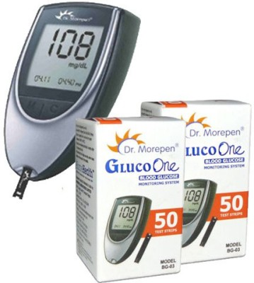 Dr Morepen Gluco one with 100 strips Glucometer
