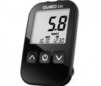 Infopia GluNEO Lite Blood Glucose Monitoring System for Self Testing Glucometer Glucometer