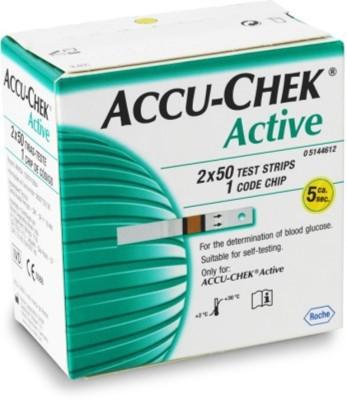 ACCU-CHEK Active 100 Strips Glucometer(White)