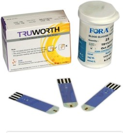 Truworth G30 Test Strips 25 Pack Glucometer(Blue)