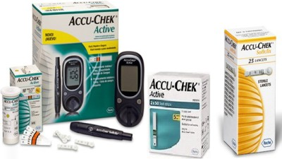 ACCU-CHEK Active With 110 Strips & 25 Lancets Super Combo With Glucometer