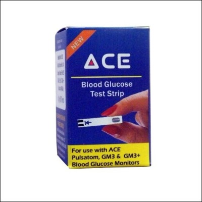 Ace Blood Glucose Test Strips Pack of 100 Glucometer