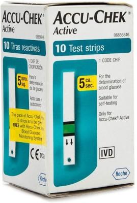 ACCU-CHEK Active 10 Test Strips Glucometer