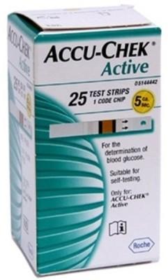 ACCU-CHEK Active Test Strips - 25 Glucometer