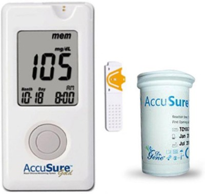 AccuSure Gold Glucose Monitor with 35 Strips Glucometer