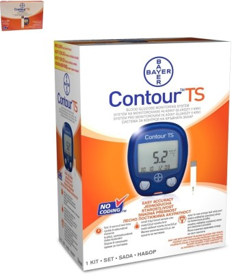 Bayer Contour TS Kit with 100 strips Glucometer(Blue)