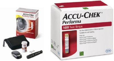 ACCU-CHEK Performa Nano 100 Strips With Glucometer