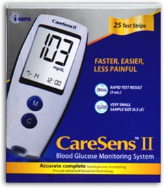 Caresens II Easy Gluco Plus Glucometer
