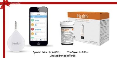 iHealth iHealth Align Portable Glucometer & iHealth Blood Glucose Test Strips Combo Glucometer