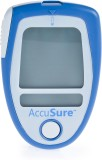 AccuSure Free 50 Strips Glucometer (Blue...