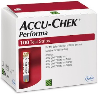 ACCU-CHEK 100 Strips For Performa & Nano Glucometer
