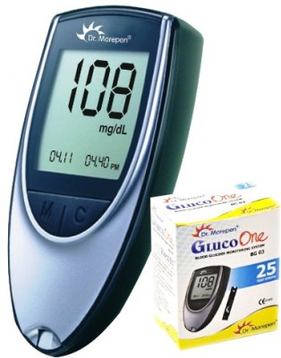 Dr.Morepen Gluco One meter with 25 Test Strips Glucometer
