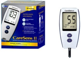 Caresens Safe Check Glocose Monitor Glucometer