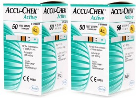 Accu-Chek Active Test Strips - 50(Pack of 2) Glucometer