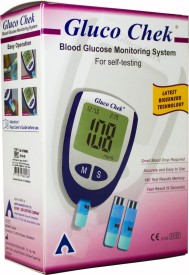 Gluco Chek Blood Glucose Monitor with 10 Test Strips Glucometer