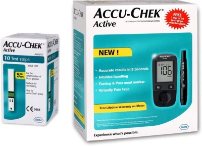 Accu-Chek Active Glucose Monitor with 10...