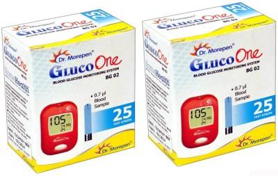 Dr. Morepen GLUCO ONE MONITORING SYSTEM TEST STRIP 25 TEST STRIPS(Pack of 2) Glucometer