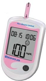 HLL Lifecare Ltd Makesure Glucometer(Pink)