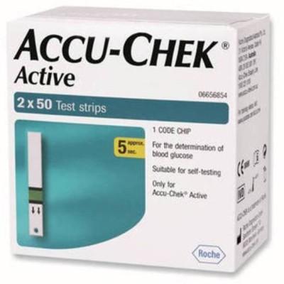 ACCU-CHEK Active 100 Test strips Expiry (1-2017) Glucometer