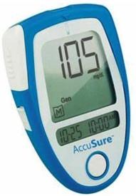 Accu Sure Glucose Monitor with 35 Strips Glucometer
