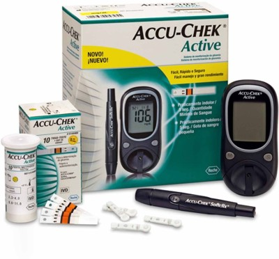 ACCU-CHEK Active Glucose Monitor with 25 Strips Glucometer